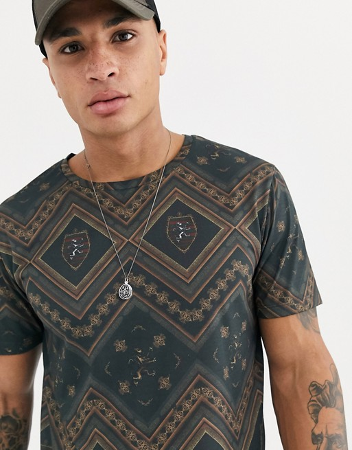 burton-menswear-t-shirt-met-horizontale-streep-in-donkergroen